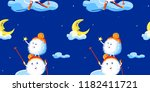 vector seamless pattern with...   Shutterstock .eps vector #1182411721