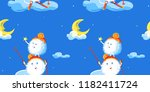 vector seamless pattern with...   Shutterstock .eps vector #1182411724