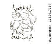 looking for summer. hand... | Shutterstock .eps vector #1182417184
