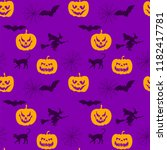halloween orange violet festive ... | Shutterstock .eps vector #1182417781