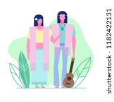 colorful flat characters... | Shutterstock .eps vector #1182422131