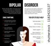 modern flat mental illness... | Shutterstock .eps vector #1182422137
