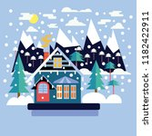 merry christmas greeting card... | Shutterstock .eps vector #1182422911