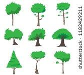 tree isolated vector. | Shutterstock .eps vector #1182429211