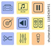 multimedia icons set with...   Shutterstock .eps vector #1182436951
