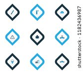industrial icons colored set... | Shutterstock .eps vector #1182436987