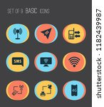 communication icons set with... | Shutterstock .eps vector #1182439987