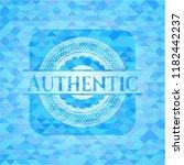 authentic sky blue emblem.... | Shutterstock .eps vector #1182442237