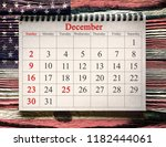 december 25 in the calendar on... | Shutterstock . vector #1182444061