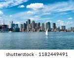 sailing in front of boston... | Shutterstock . vector #1182449491