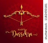 happy dussehra festival card... | Shutterstock .eps vector #1182450181