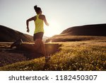 young fitness woman trail... | Shutterstock . vector #1182450307