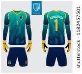 goalkeeper jersey or soccer kit ... | Shutterstock .eps vector #1182457501