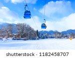 bansko  bulgaria winter ski... | Shutterstock . vector #1182458707