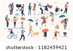 set of isolated characters of... | Shutterstock .eps vector #1182459421