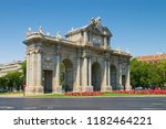 alcala gate  spanish  puerta de ... | Shutterstock . vector #1182464221