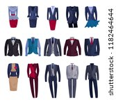 business suit vector... | Shutterstock .eps vector #1182464644