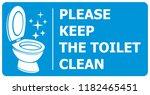 please keep toilet clean label | Shutterstock .eps vector #1182465451