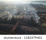aerial drone flight over a...   Shutterstock . vector #1182479401