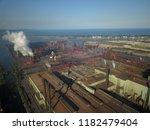 aerial drone flight over a...   Shutterstock . vector #1182479404
