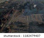 aerial drone flight over a...   Shutterstock . vector #1182479407