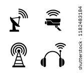 radio wireless technology.... | Shutterstock .eps vector #1182483184