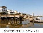 luxury beach houses on the... | Shutterstock . vector #1182491764