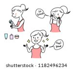 face care concept with face... | Shutterstock .eps vector #1182496234