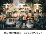 vintage flowers decoration in... | Shutterstock . vector #1182497827