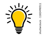 modern yellow light bulb icon... | Shutterstock .eps vector #1182498511
