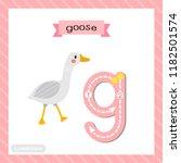 letter g lowercase cute... | Shutterstock .eps vector #1182501574