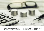 saving account book from bank... | Shutterstock . vector #1182501844