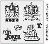 Set Of Casino And Poker Emblem...
