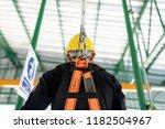 construction worker wearing... | Shutterstock . vector #1182504967