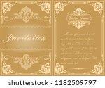 decorative frame in vintage... | Shutterstock .eps vector #1182509797