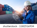 the abstract image of engineer... | Shutterstock . vector #1182516934