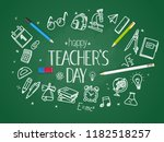 school chalkboard with... | Shutterstock .eps vector #1182518257