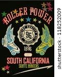roller skate | Shutterstock .eps vector #118252009