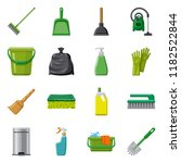 vector illustration of cleaning ... | Shutterstock .eps vector #1182522844