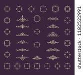 retro rosette and victorian...   Shutterstock .eps vector #1182522991