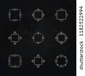 huge rosette wicker border...   Shutterstock .eps vector #1182522994