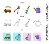 vector design of farm and... | Shutterstock .eps vector #1182523024