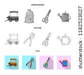 vector design of farm and... | Shutterstock .eps vector #1182523027