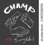 slogan with hands  game rock ...   Shutterstock .eps vector #1182528034