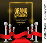 grand opening template with red ... | Shutterstock .eps vector #1182529924