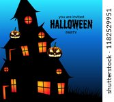 halloween party invitation with ... | Shutterstock .eps vector #1182529951
