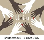 hands unified abstract | Shutterstock .eps vector #118253137