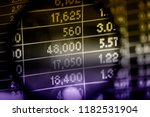 various type of financial and... | Shutterstock . vector #1182531904
