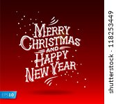 merry christmas and happy new... | Shutterstock .eps vector #118253449