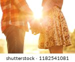 young couple in love walking in ... | Shutterstock . vector #1182541081